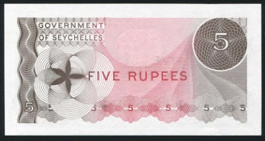 Seychelles 5 Rupees note