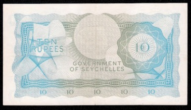 Seychelles bank notes 10 Rupees